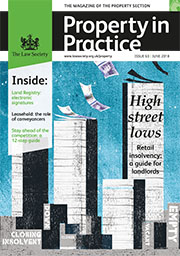 Property in Practice (PIP) June 2018 cover