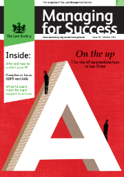 Managing for Success October 2017 cover