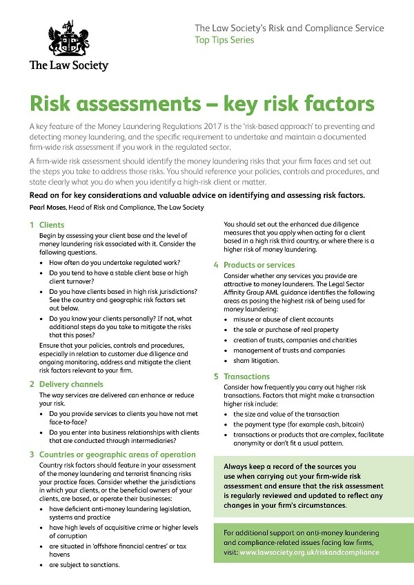 Risk Assessments Key Risk Factors Feature Communities The