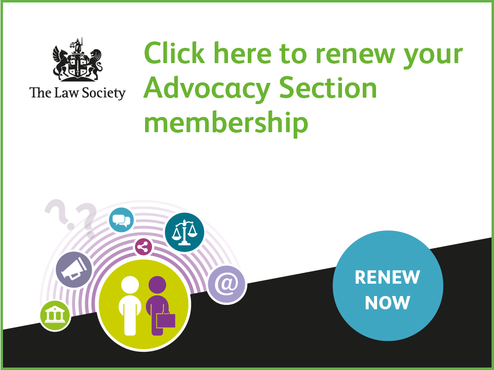 Advocacy Section renewals