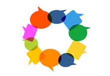 circle of speech bubbles