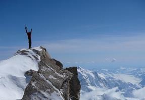 mountain climber summit