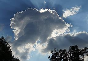 Changing capacity: cloud passing over sun