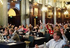Engaged audience at PCS conference