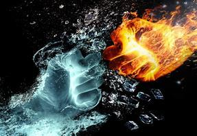 fire and water hands