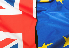 Image of UK and EU flags representing Brexit