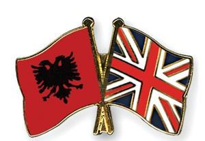 flag pins albania great britain