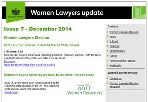 WLD e-newsletter screenshot