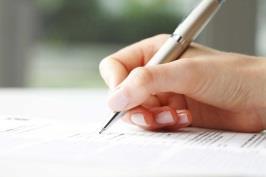 Hand writing an essay