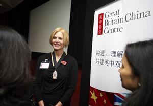 Vice President Christina Blacklaws talking to attendees of the UK-China Rule of Law Roundtable