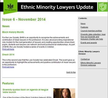EMLD newsletter screenshot
