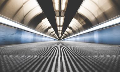 tube moving walkway