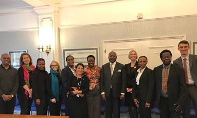 LS President and staff with Ugandan Delegation