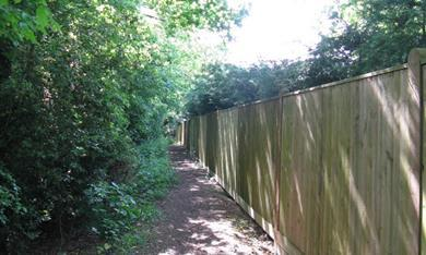 property boundary fence