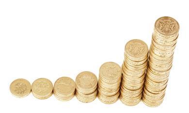 piles coins money