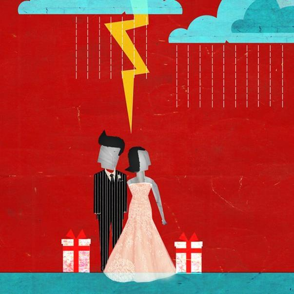 married couple with lightning on top 1000x1000
