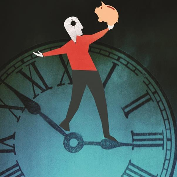 person standing on clock hands 1000x1000