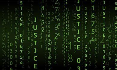 Tech code graphic - algorithms in justice system