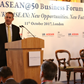 Photo of Liam Fox MP speaking at the ASEAN@50 Business Forum