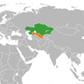 kazakhstan uzbekistan locator